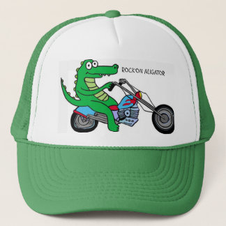 ROCK'ON ALIGATOR TRUCKER HAT