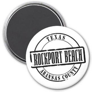 Rockport Beach Title 3 Inch Round Magnet