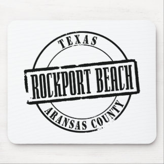 Rockport Beach Title Mouse Pad