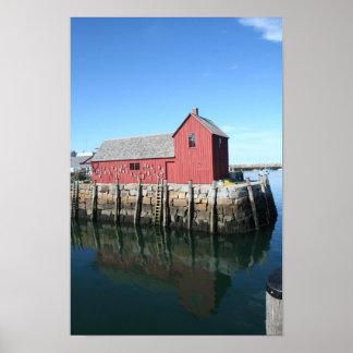 Rockport, fishing shack poster