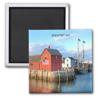 ROCKPORT, MA 2 INCH SQUARE MAGNET