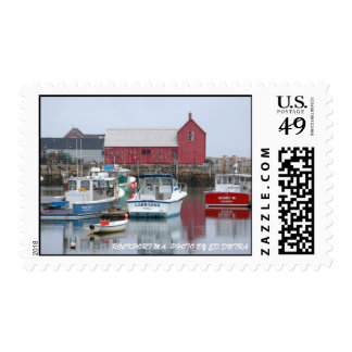 ROCKPORT MA. PHOTO BY ED DUTRA POSTAGE STAMP