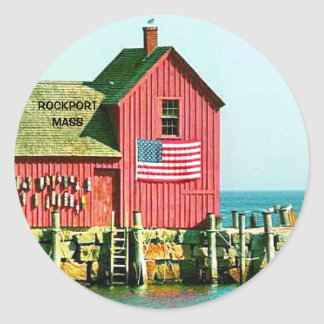 ROCKPORT, MASS CLASSIC ROUND STICKER