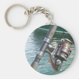 Rockport Rod & Reel Basic Round Button Keychain