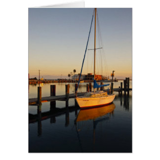 Rockport, Texas harbor at sunset Card