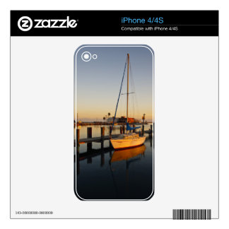 Rockport Texas harbor at sunset Decal For iPhone 4S