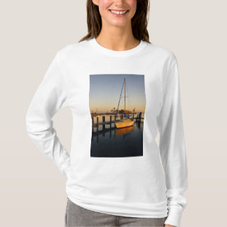 Rockport, Texas harbor at sunset T-Shirt