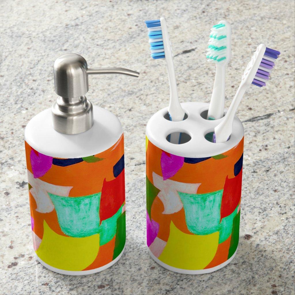 Rockridge Soap Dispenser And Toothbrush Holder