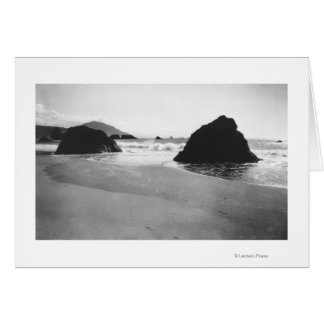 Rocks along Beach at Port Orford, Oregon Card