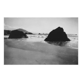 Rocks along Beach at Port Orford, Oregon Poster