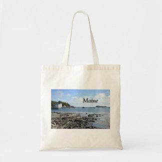 rocks along the Maine coast Tote Bag