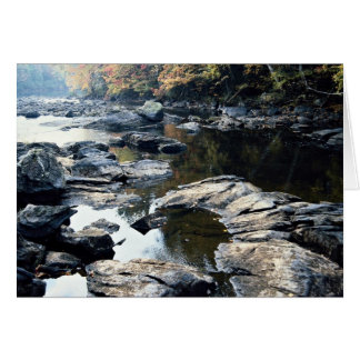 Rocks and boulders, York River, Ontario, Canada Greeting Card