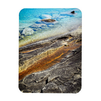 Rocks and clear water background rectangular magnets