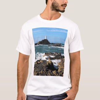 Rocks and Corbiere lighthouse, Jersey T-Shirt