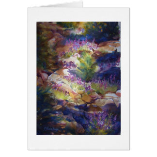 """""""Rocks and Lupine"""" Watercolor Greeting Card"""