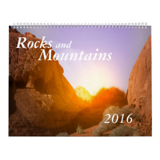 Rocks and Mountains calendar two page cutomizable