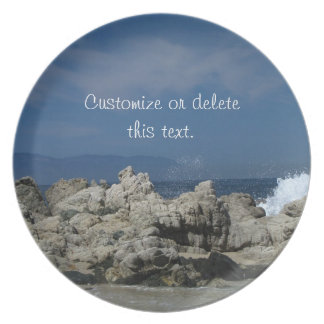 Rocks and Splashes; Customizable Dinner Plate
