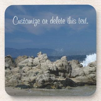 Rocks and Splashes; Customizable Drink Coaster