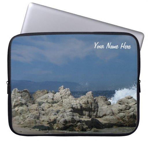 Rocks and Splashes; Customizable Laptop Sleeve