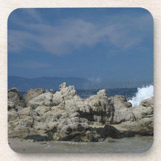 Rocks and Splashes; No Text Coaster