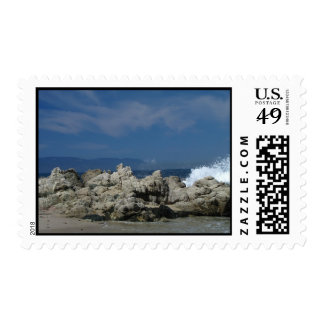 Rocks and Splashes; No Text Postage Stamp