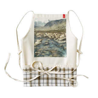 Rocks and water of a mountain stream zazzle HEART apron