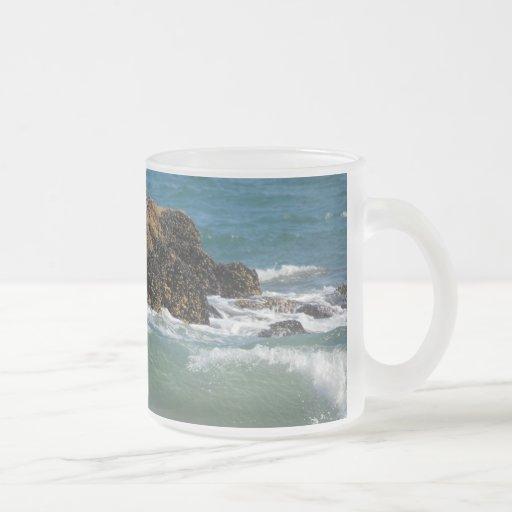 Rocks and waves, mug
