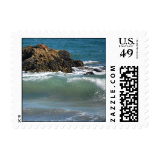 Rocks and waves, small stamps