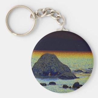 Rocks Around A Rock Basic Round Button Keychain