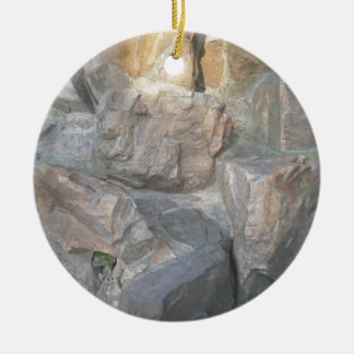 Rocks at a Garden in China Ceramic Ornament