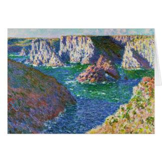 Rocks at Belle-Ile Claude Monet Card