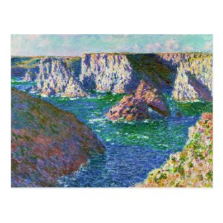 Rocks at Belle-Ile Claude Monet Postcard