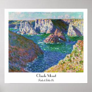 Rocks at Belle-Ile Claude Monet Poster