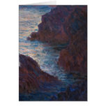 Rocks at Belle-lle, Port-Domois by Claude Monet Card