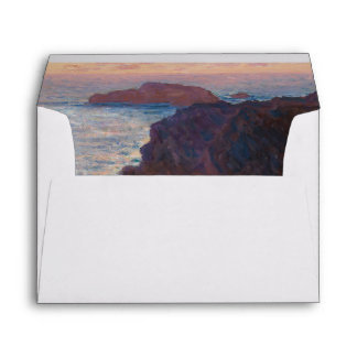 Rocks at Belle-lle, Port-Domois by Claude Monet Envelope