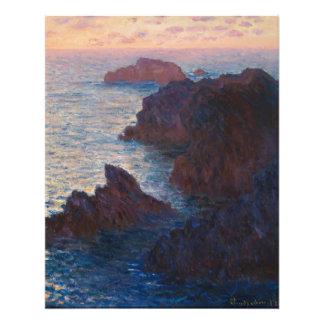 Rocks at Belle-lle, Port-Domois by Claude Monet Photo Print