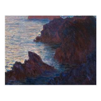 Rocks at Belle-lle, Port-Domois by Claude Monet Postcard