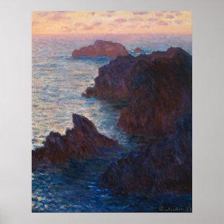 Rocks at Belle-lle, Port-Domois by Claude Monet Poster