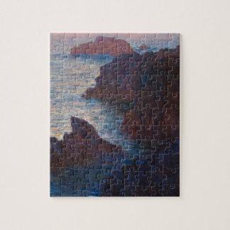 Rocks at Belle-lle, Port-Domois by Claude Monet Puzzle