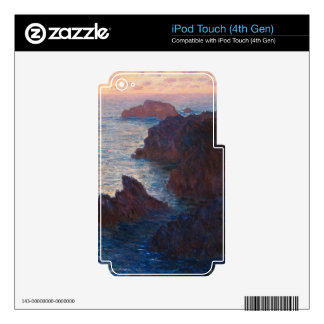 Rocks at Belle-lle, Port-Domois by Claude Monet Decal For iPod Touch 4G
