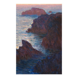 Rocks at Belle-lle, Port-Domois by Claude Monet Stationery