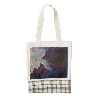 Rocks at Belle-lle, Port-Domois by Claude Monet Zazzle HEART Tote Bag