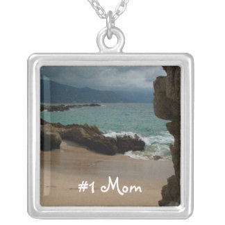 Rocks at Conchas Chinas; Mother's Day Silver Plated Necklace