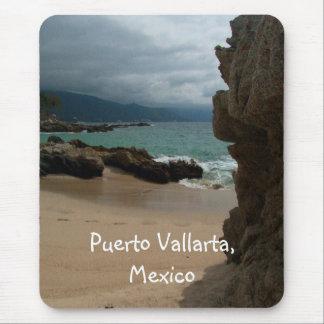 Rocks at Conchas Chinas; Puerto Vallarta, Mexico Mouse Pad