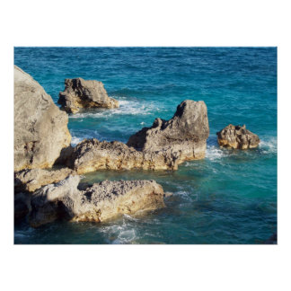 Rocks at Horseshoe Beach Poster