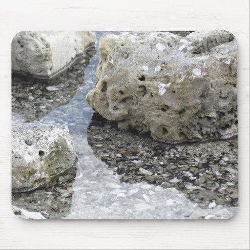 Rocks at Island Park Mouse Pad