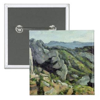Rocks at L'Estaque, 1879-82 Pinback Button