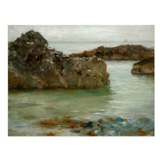 Rocks at Newport Postcard