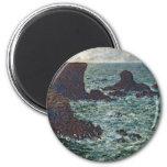Rocks at Port-Coton, the Lion (1886) Fridge Magnet