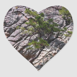 Rocks at Robber's Cave State Park Heart Sticker